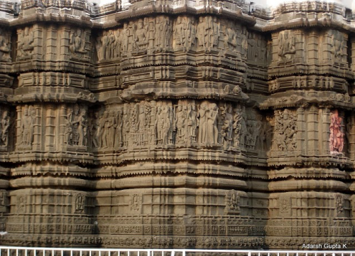 Carvings on the temple